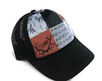 5bfd5a53900 Fox Little Man Minky Front Trucker Hat - Kids Trucker Hat - Snap Back Hat -  Baby Trucker Hat - Kids Baseball Hat - Youth Hat