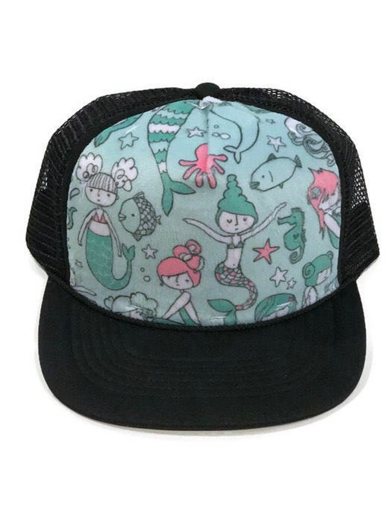 ba1578b2576 Mermaid Minky Front Trucker Hat Kids Trucker Hat Snap Back