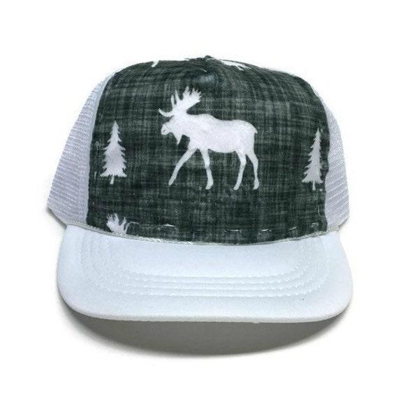 f8384e73dd4 Moose Minky Trucker Hat Adult-Child-Kids-Baby Mountains