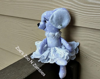 Handmade Lavender Mouse  Mini Collectible Sweet Cloth Doll Ornament