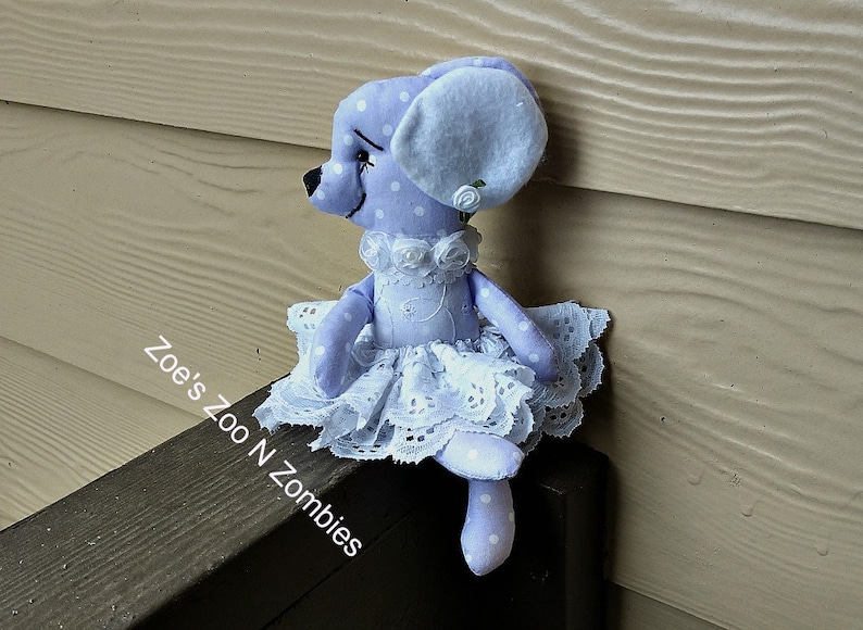 Handmade Lavender Mouse  Mini Collectible Sweet Cloth Doll image 0