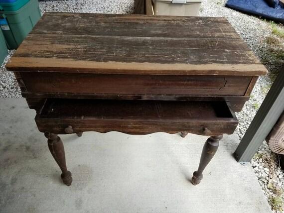 image 0 - Primitive Solid Wood Writing Desk Wood Letter Desk Antique Etsy