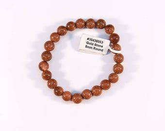 Simple Red Goldstone Bracelet.