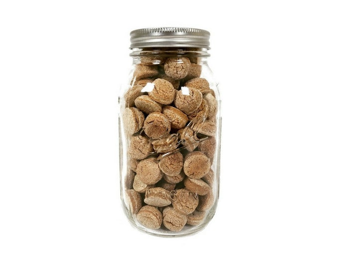 Grain-Free Ginger Cookies 32 oz Mason Jar (140 treats)