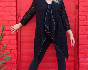 Women's cardigan |  long sleeves cardigan | oversized cardigan | eco-friendly cardigan | sizes | L | XL |  XXL
