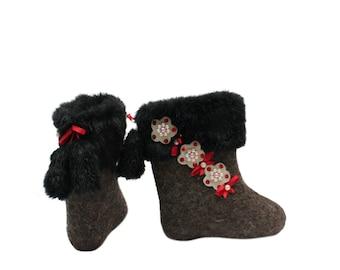 Handmade baby boots, Christmas present