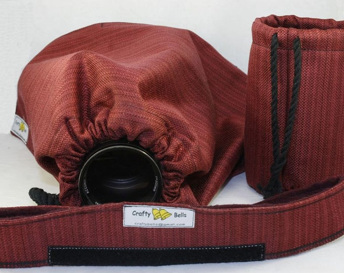 Rain Cover, Heavy Duty,  Protect camera and lens from rain or water splash, 3 layers of protection, Headband and carry bag included