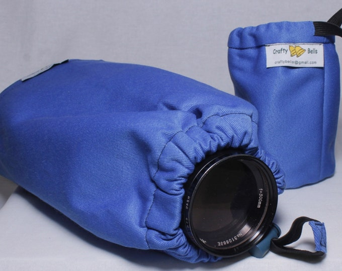 Camera and Lens Dust Cover, Heavy duty protection, Triple layer protection, Water dust resistant, Handmade, Photography Accessory
