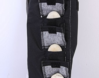 Mini Tripod Bags with accessory pockets, Store bulbs in separate pockets, Store extension in separate section, Made to order