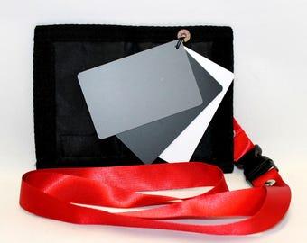Photography, Balance Cards in a Folder, White, Black, Grey Balance Cards, Free Shipping, Photography Accessories,  Handmade