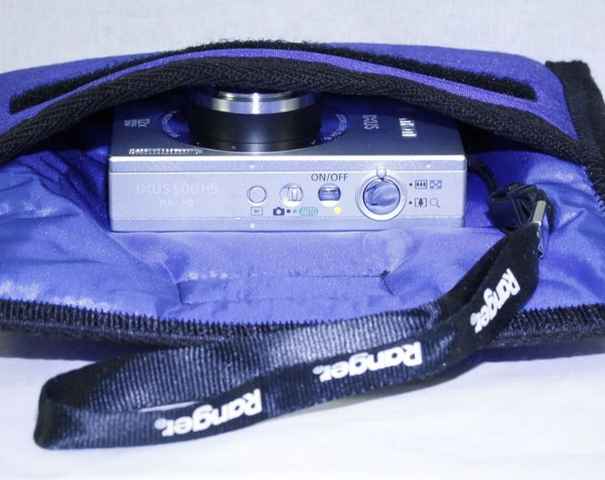 Camera Cases, Large Point an Shoot Cameras, Free Shipping, Photography Accessories, Water and shock resistant 5 layer padding, Handmade
