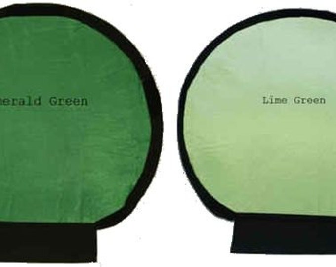 Photography, Flash Light Reflectors,  Photography Accessories, Emerald and Lime, Fit White Shell Reflector, Handmade