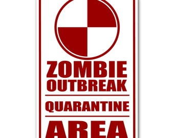 photo about Quarantine Sign Printable called Quarantine indicator Etsy