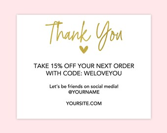 Business Thank You Cards Online Store Thank You Cards Etsy Etsy