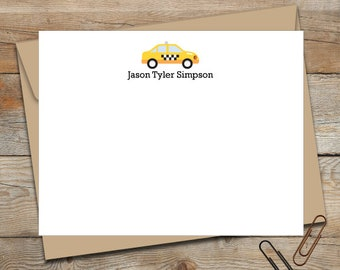 Personalized New York City Taxi Pups Notepad