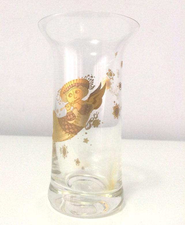 Vintage Rosenthal Signed Bjorn Wiinblad Mini Glass Vase With Etsy