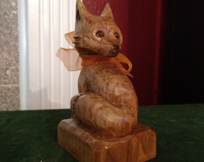 Crispin the Fox, Wood Carving