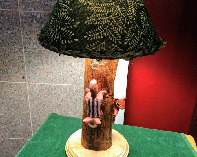 Chipmunk Tree Lamp