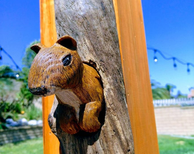 Squirrel Wood Sculpture Wall Art