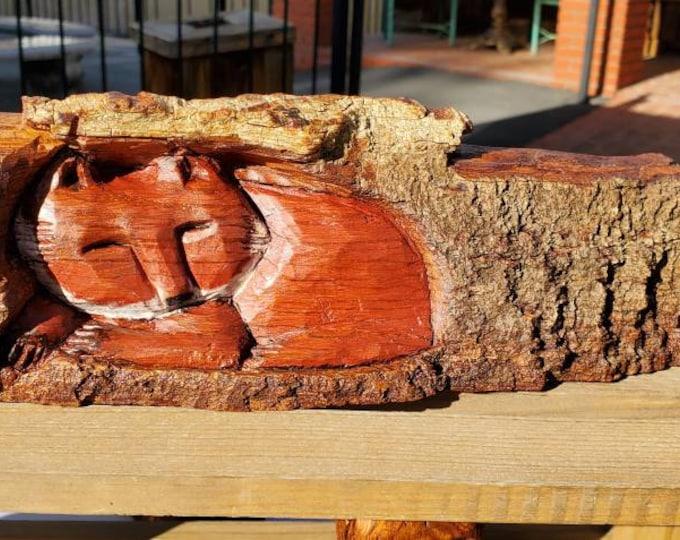 Fox in a Log