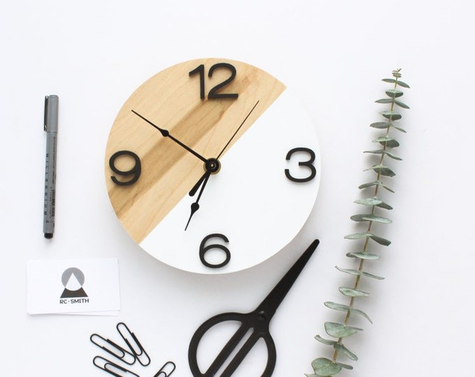 Wooden Modern Wall Clock | Minimalist Unique Design | Free Shipping