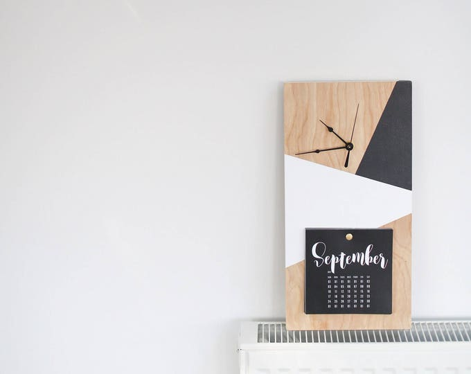 Geometric Clock/Calendar Combination