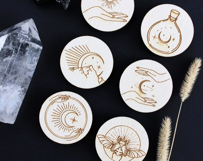 Mystical Fridge Magnets, Astronomy home decor