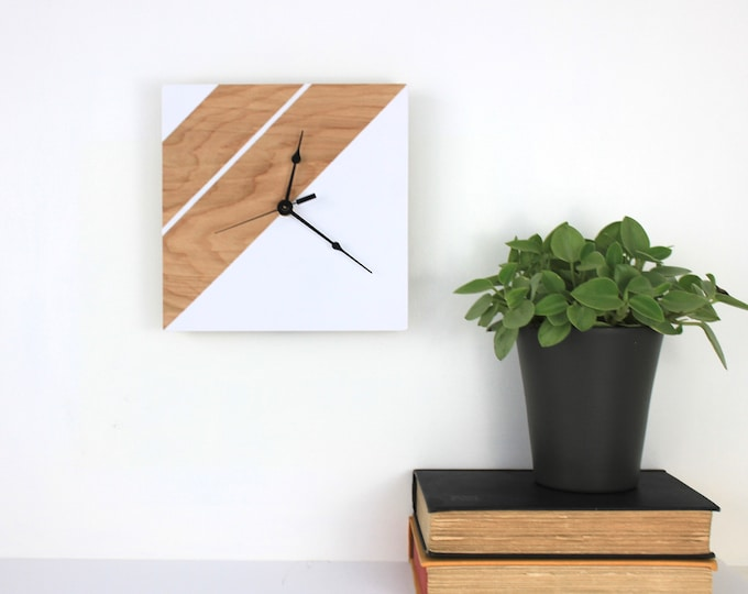 Geometric Inspired Wooden Clock