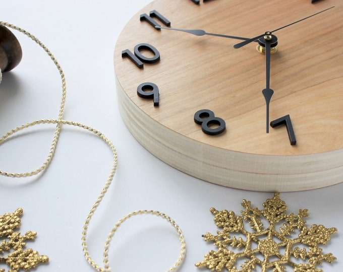 Modern Wooden Wall Clock - Minimal, unique, contemporary design