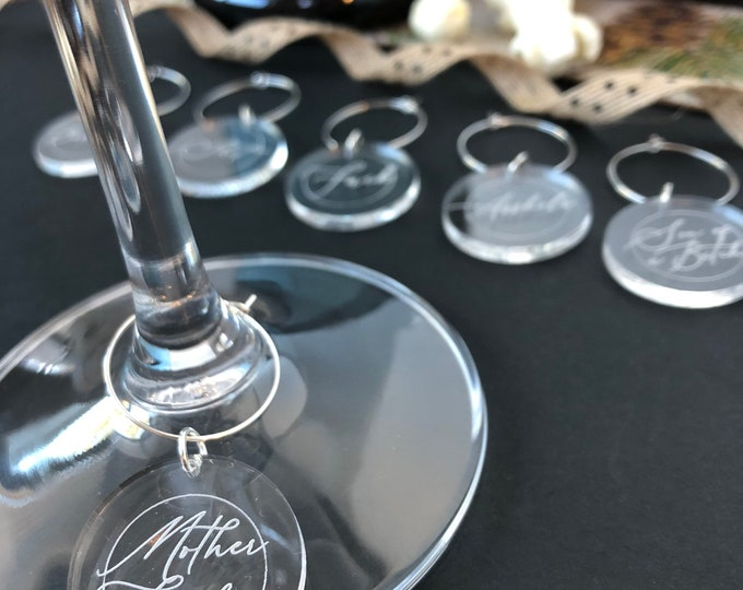 Swear word wine charms