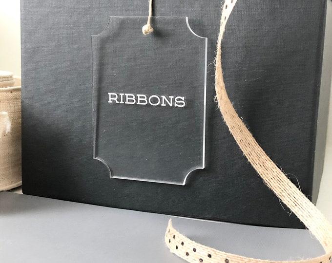 Custom Acrylic Basket Labels