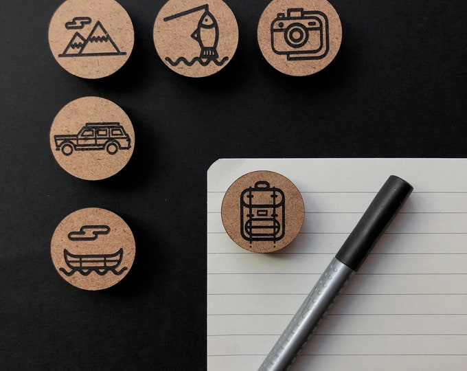 Camp Themed Magnets