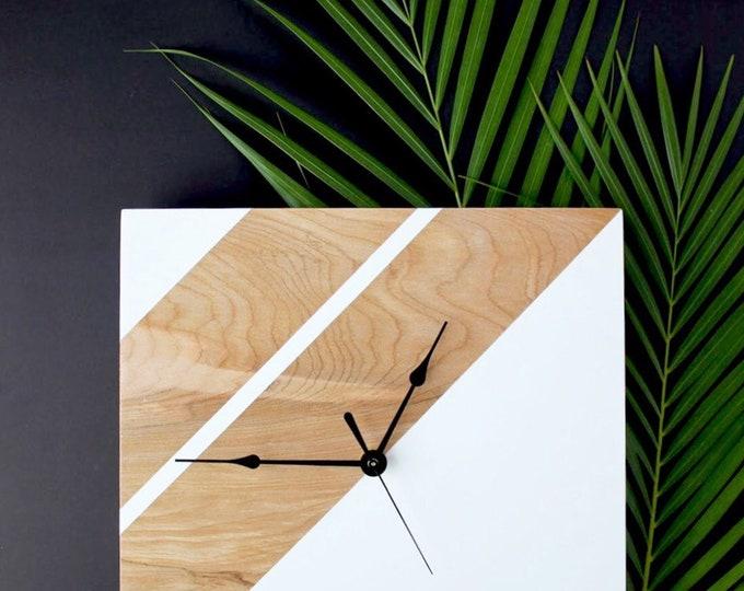Geometric Inspired Wooden Clock