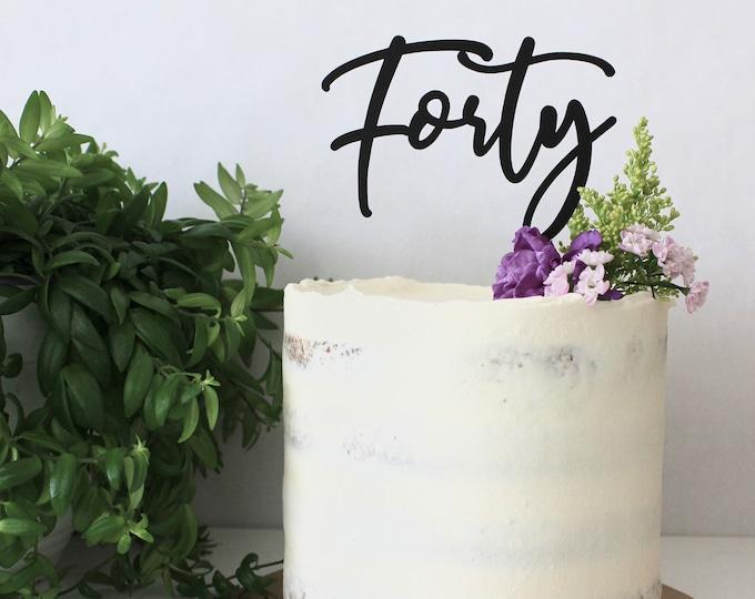 Fiftieth Birthday or Anniversary Cake Topper