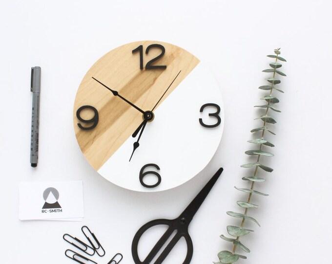 Wooden Modern Wall Clock | Minimalist Unique Design | Free Shipping