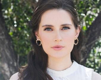 Stud earrings Christmas Earring, Rose gold earrings Vintage Style Bride Earring, Delicate Earring, Wedding Earring