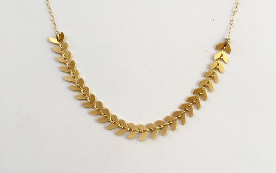 Gold Leaves Bridal Necklace Bride Gold Necklace Gold Bridal  80947ab43a