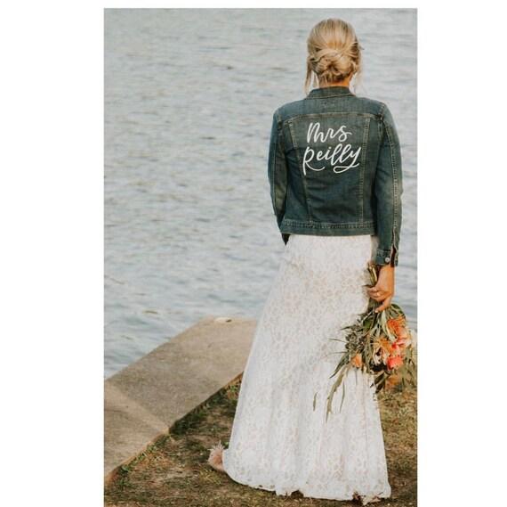 Benutzerdefinierte Jacke Jeansjacke Jacke Jacke Hochzeit Etsy