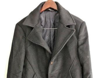 213d48f6 Navy Pea Coat Mens Beautifully Soft