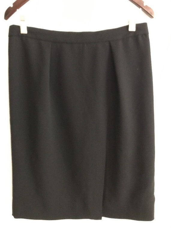 464a32fae326 J.Crew Skirt Pencil Black Womens Size 8 Lined Slit