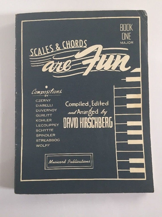 Scales And Chords Are Fun Book One Major Vintage Sheet Music Etsy