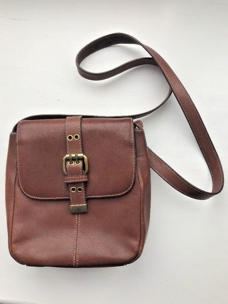 Vintage Etienne Aigner Leather Shoulder Bag Handbag Purse  1ea7c3192800c