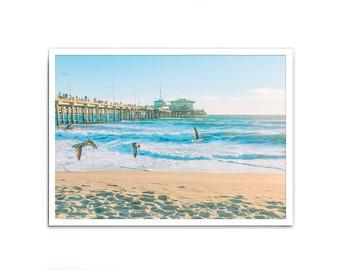 Santa Monica Beach, California, Beach Print, Beach Photography, Los Angeles, Modern Wall Art, Photographic Wall Art, Wall Print, Wall Decor