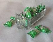 1930s glass DRAWER Hossier jar DISH storage kitchen Von Poncet Cabinet Handled Drawer Dry Measure Scoop Spice
