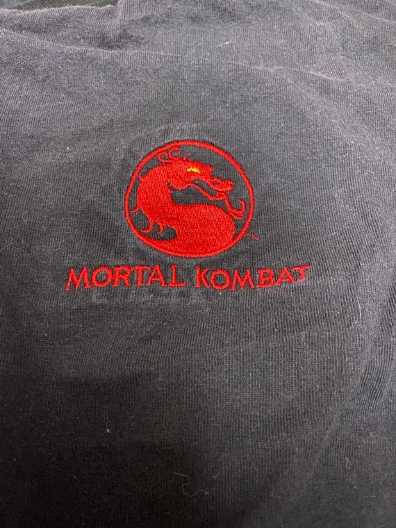 Vintage Mortal Kombat Black Embroidered Light Wei… - image 3