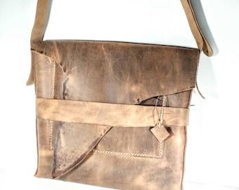 Leather Messenger Bag - 100% Handcrafted Leather Bag - Smooth Brown Leather  - Crossbody Bag -Adjustable Shoulder Strap - Rugged -Tough e51eee11d8
