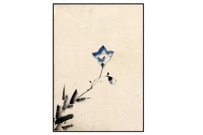 Lencre Dessin Fleurs Fleurs Impression De Dessin à Lencre Etsy
