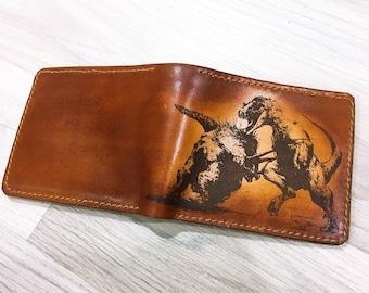 Dinosaur Wallet T Rex Hunting Kill Boy Gifts Man Leather Animal Custom Boyfriend Birthday