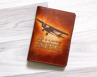 Life is a Journey Leather Passport Wallet/Passport Cover/Passport Holder/Personalized passport cover/travel gifts/custom passport case