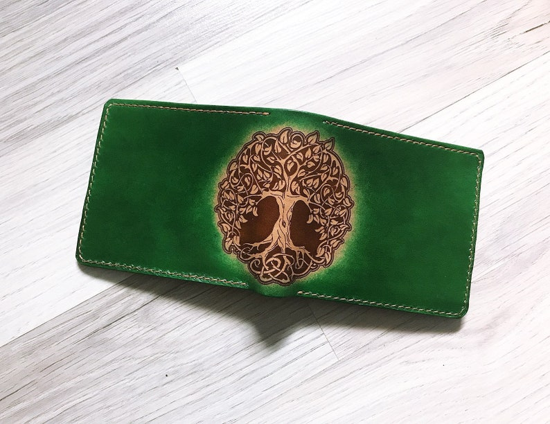2ef90a3a3d25 Tree of life leather Mens wallet,gifts for men,minimalist slim  wallet,boyfriend birthday gifts, anniversary mens gift,fathers days present
